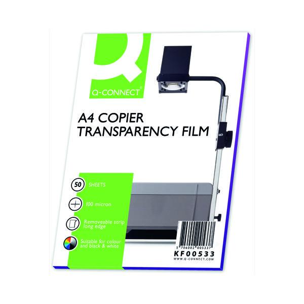A4 Q-Connect Laser Copier OHP Film (50 Pack) KF00533