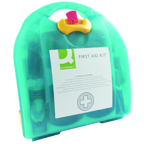 Equipment Q-Connect 20 Person Wall-Mountable First Aid Kit KF00576
