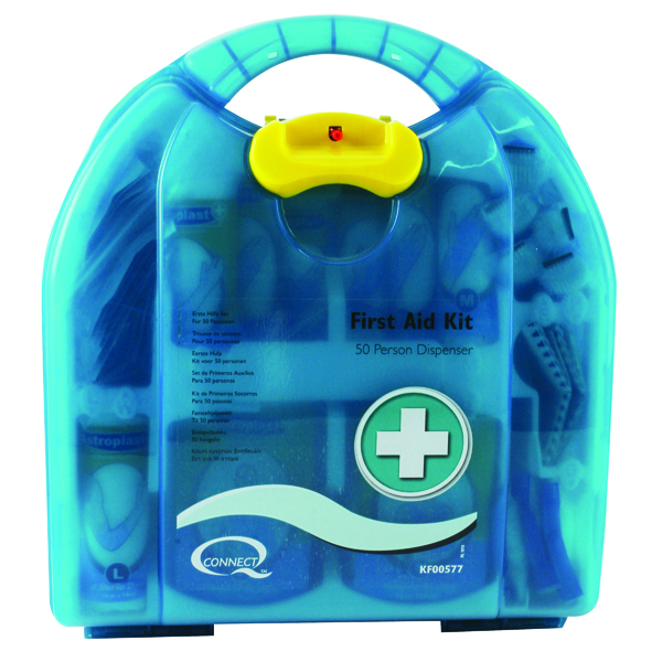 Equipment Q-Connect 50 Person Wall-Mountable First Aid Kit 1002453