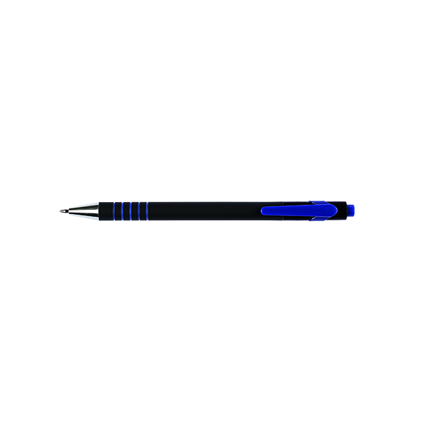 Blue Q-Connect Lamda Ballpoint Pen Medium Blue (12 Pack) KF00673