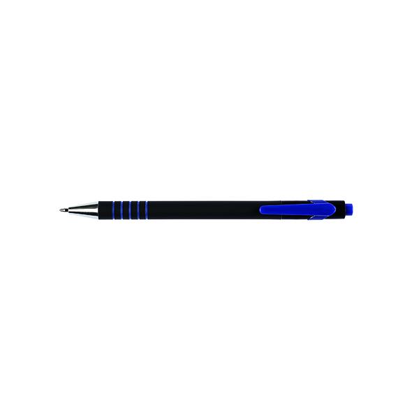 Q-Connect Lamda Ballpoint Pen Medium Blue (12 Pack) KF00673