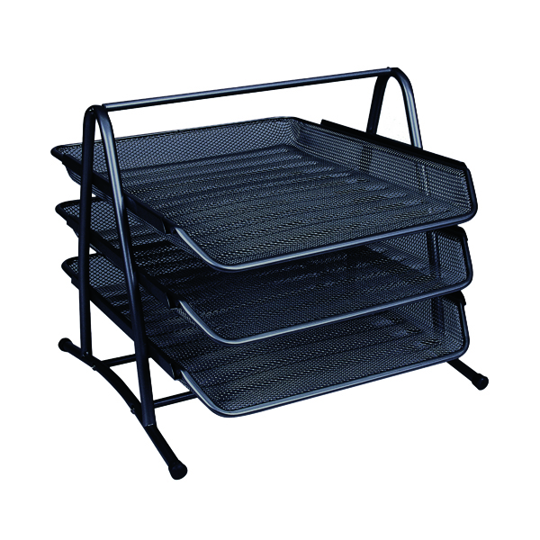 Letter Tray Q-Connect 3 Tier Letter Tray Black KF00823