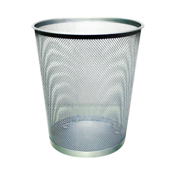 Rubbish Bins Q-Connect Waste Basket Mesh 18 Litre Silver KF00849