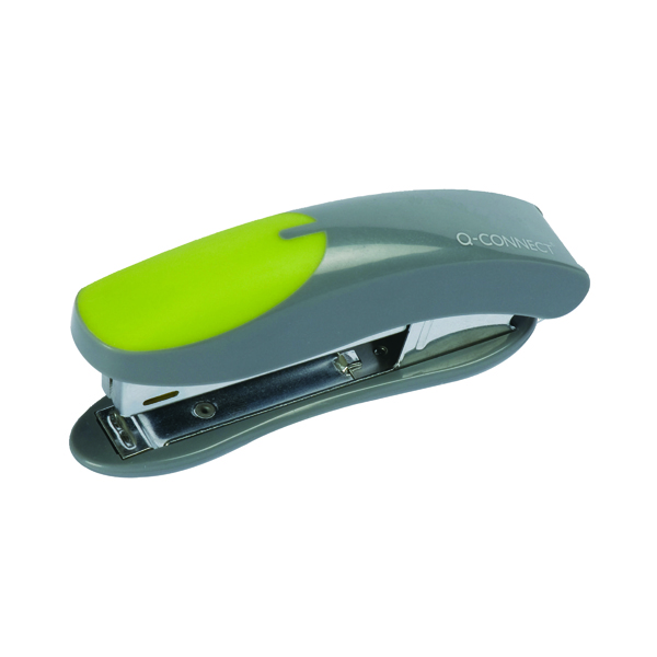 Q-Connect Mini Plastic Stapler Grey/Green KF00991