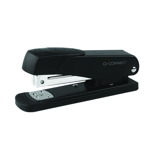 Q-Connect Half Strip Metal Stapler Black KF01044
