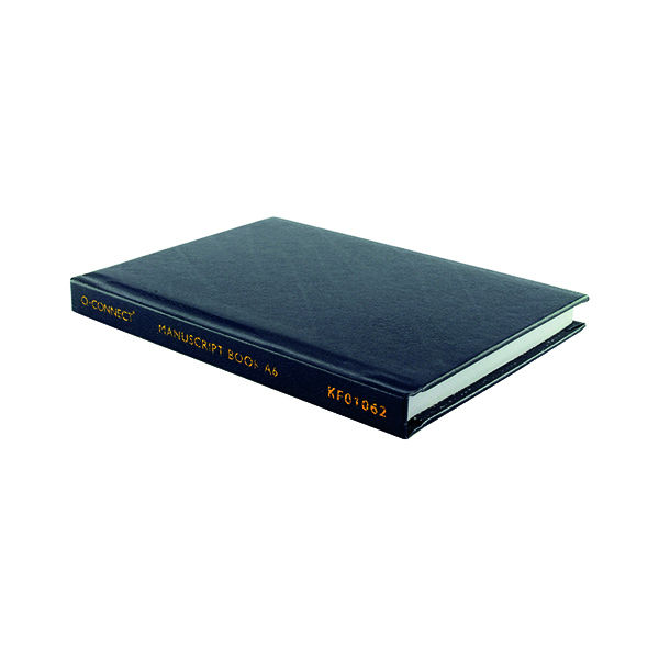 Q-Connect Feint Ruled Casebound Notebook 96 Pages A6 J00066