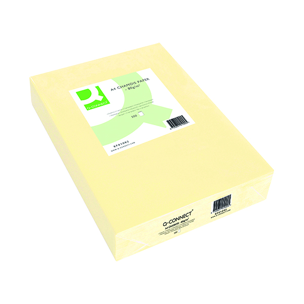 Colour 80gsm Q-Connect Cream Copier A4 Paper 80gsm (500 Pack) KF01092