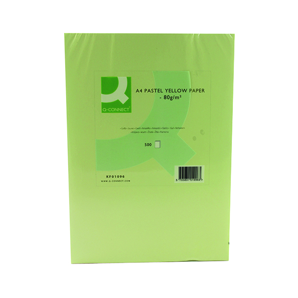 Colour 80gsm Q-Connect Yellow Copier A4 Paper 80gsm (500 Pack) KF01096