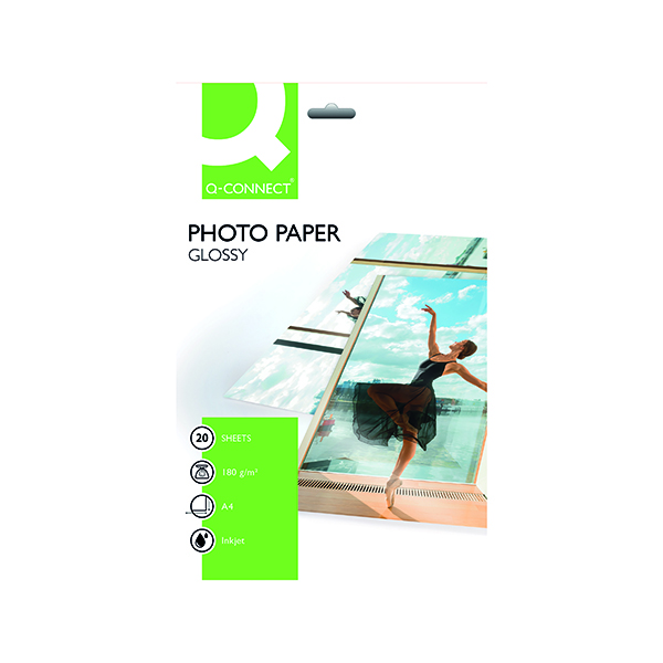 A4 Q-Connect A4 Gloss Photo Paper 180gsm (20 Pack) KF01103