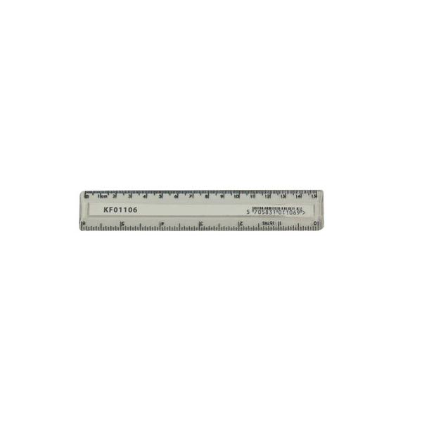 0-15cm Q-Connect Acrylic Shatter Resistant Ruler 15cm Clear (10 Pack) KF01106Q