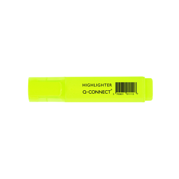 Q-Connect Yellow Highlighter Pen (10 Pack) KF01111