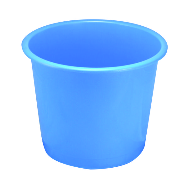 Rubbish Bins Q-Connect Waste Bin 15 Litre Blue CP025KFBLU