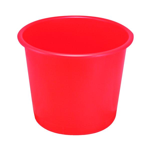 Rubbish Bins Q-Connect Waste Bin 15 Litre Red CP025KFRED