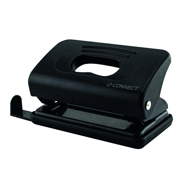 2Hole Q-Connect Light Duty Hole Punch Black 875