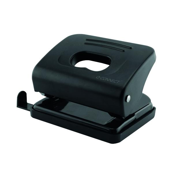 2Hole Q-Connect Medium Duty Hole Punch Black 87