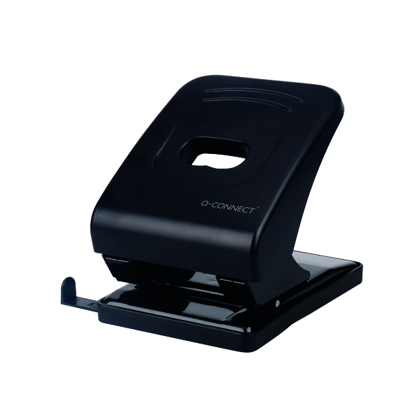2Hole Q-Connect Heavy Duty Hole Punch Black KF01236