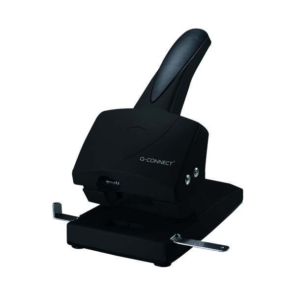 2Hole Q-Connect Extra Heavy Duty Hole Punch Black 865P