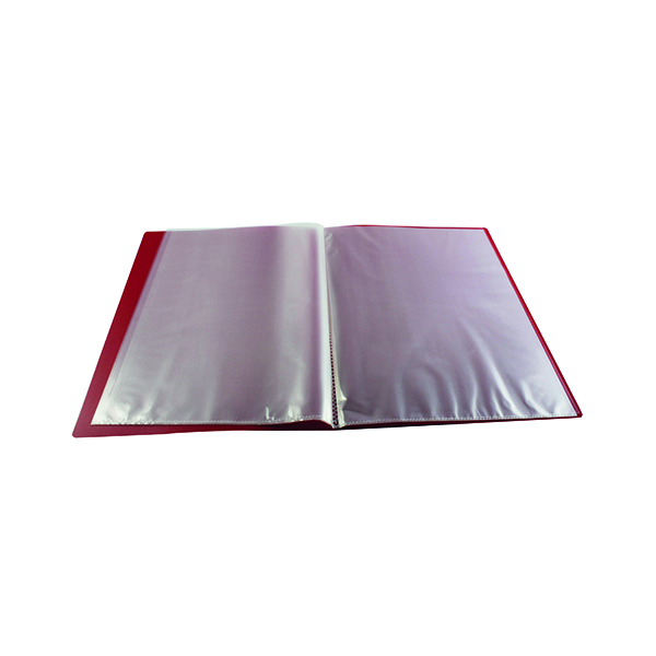 Q-Connect Polypropylene Display Book 10 Pocket Red KF01246