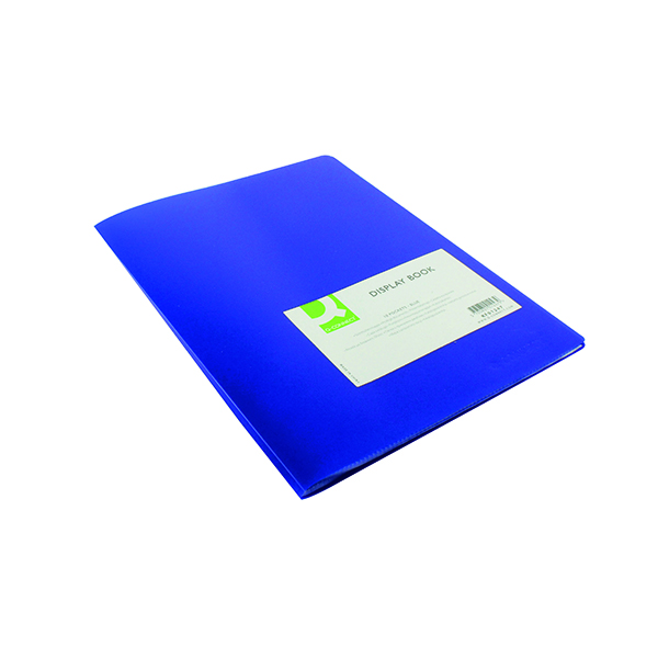 Q-Connect Polypropylene Display Book 10 Pocket Blue KF01247