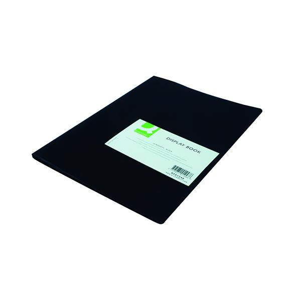 1-10 Pockets Q-Connect Polypropylene Display Book 10 Pocket Black KF01248