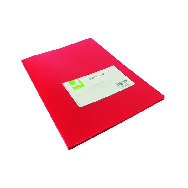 Q-Connect Polypropylene Display Book 20 Pocket Red KF01250