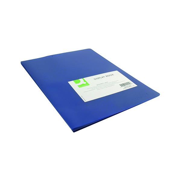 11-20 Pockets Q-Connect Polypropylene Display Book 20 Pocket Blue KF01251
