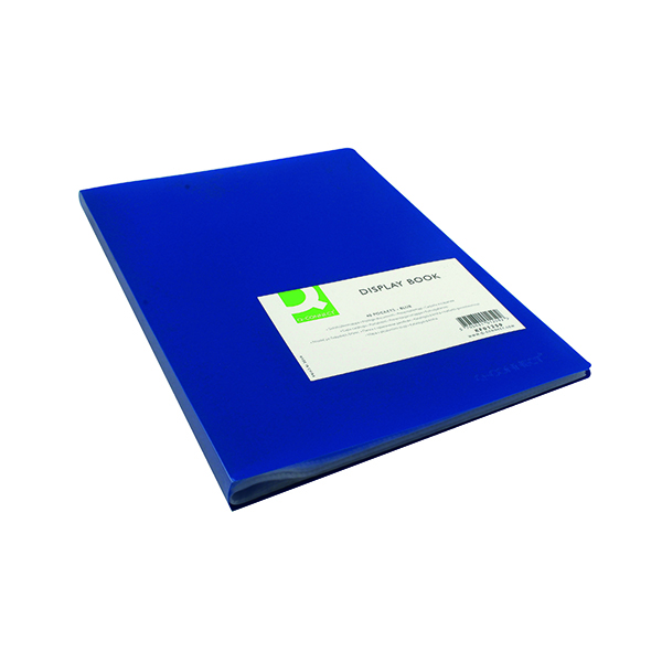 31-50 Pockets Q-Connect Polypropylene Display Book 40 Pocket Blue KF01259
