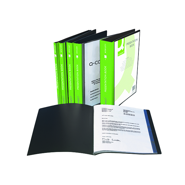 Q-Connect Presentation Display Book 10 Pocket A4 Black KF01263