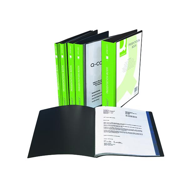 1-10 Pockets Q-Connect Presentation Display Book 10 Pocket A4 Black KF01263