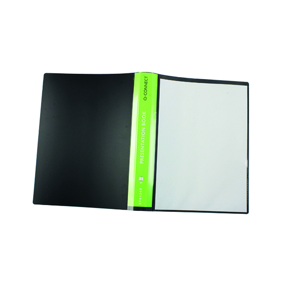 31-50 Pockets Q-Connect Presentation Display Book 40 Pocket A4 Black KF01267