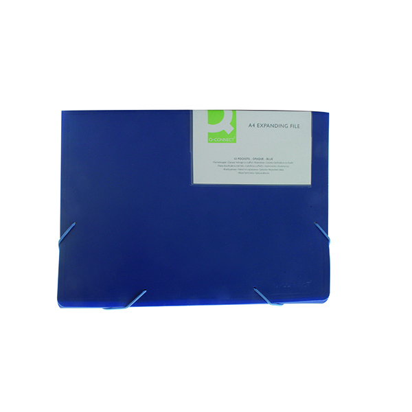 Q-Connect Expanding File 13-Pocket Blue KF01275