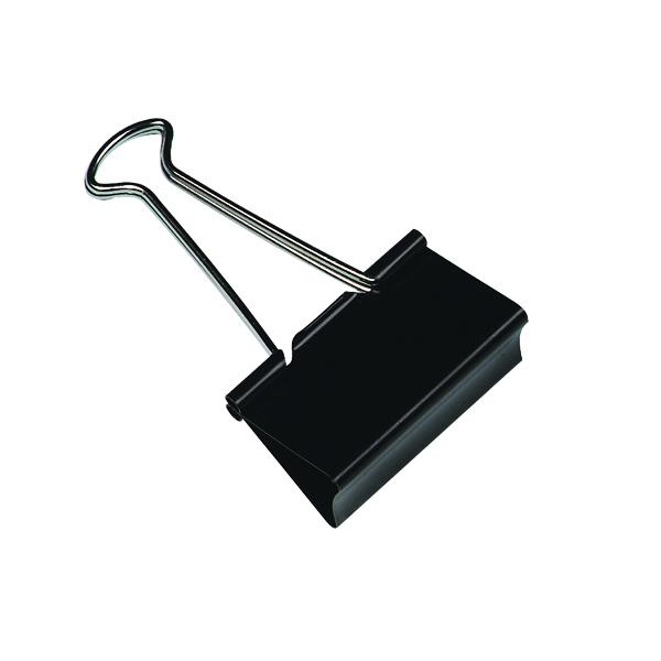 Clips Q-Connect Foldback Clip 19mm Black (10 Pack) KF01282