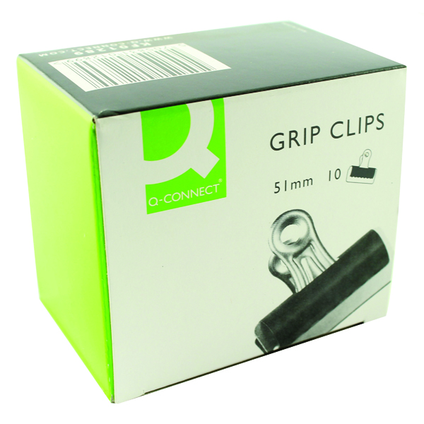 Clips Q-Connect Grip Clip 51mm Black (10 Pack) KF01289