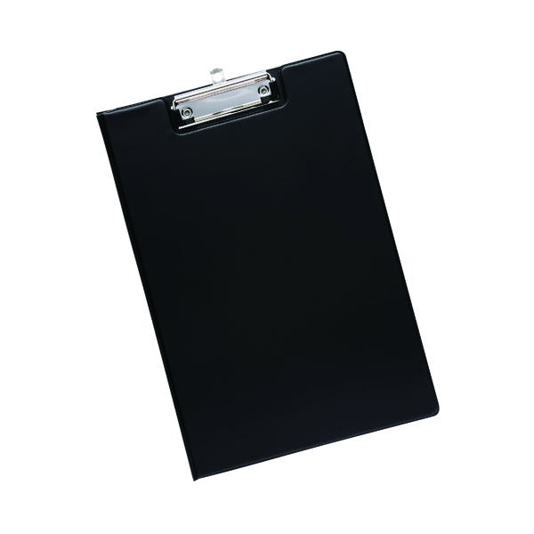 Foolscap (Legal) Q-Connect PVC Foldover Clipboard Foolscap Black KF01300