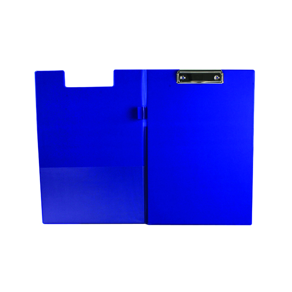 Foolscap (Legal) Q-Connect PVC Foldover Clipboard Foolscap Blue KF01301