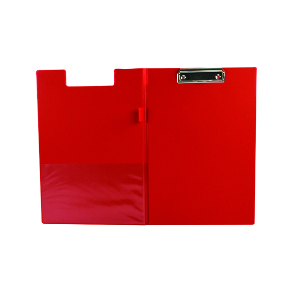 Foolscap (Legal) Q-Connect PVC Foldover Clipboard Foolscap Red KF01302