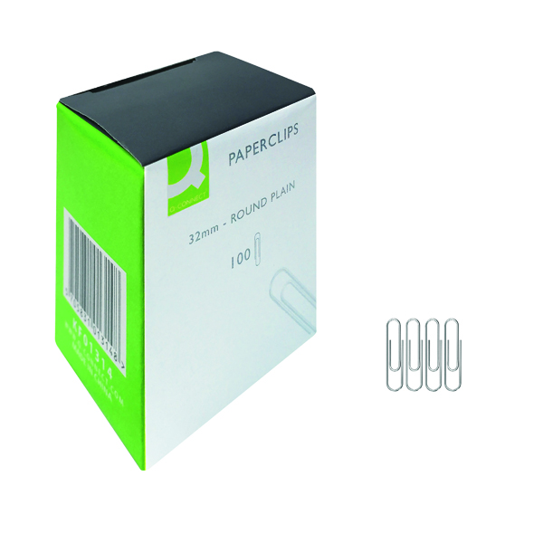 Q-Connect Paperclips Plain 32mm (1000 Pack) KF01314Q