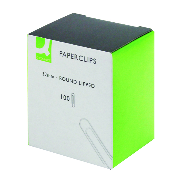 Clips Q-Connect Paperclips Lipped 32mm (1000 Pack) KF01316Q