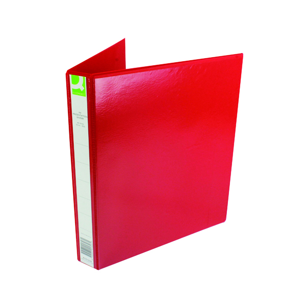 25mm Q-Connect Presentation 25mm 4D-Ring Binder A4 Red KF01326