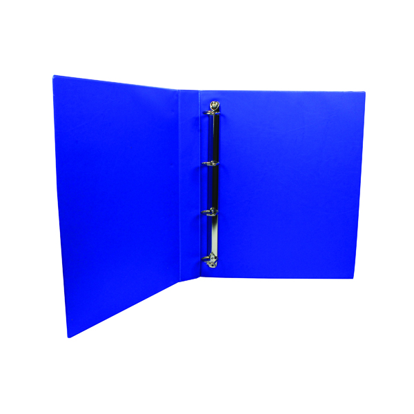 25mm Q-Connect Presentation 25mm 4D Ring Binder A4 Blue KF01327