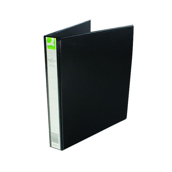 25mm Q-Connect Presentation 25mm 4D Ring Binder A4 Black KF01328