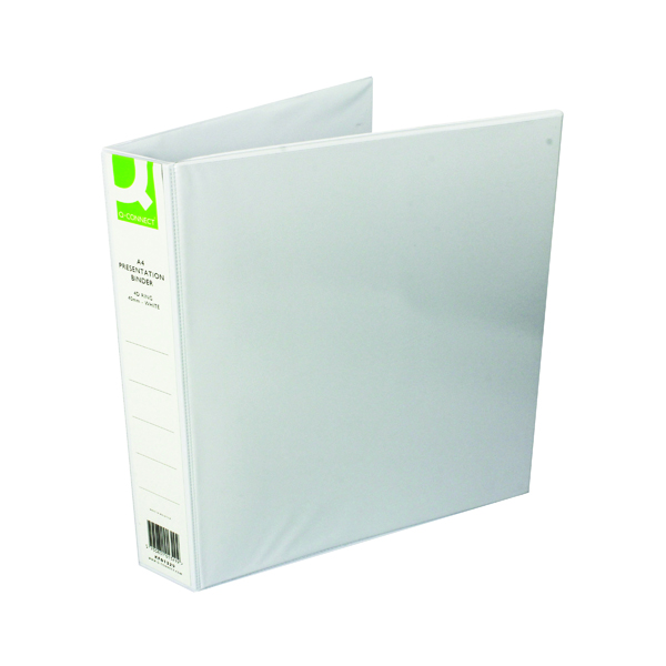 Q-Connect Presentation 40mm 4D Ring Binder A4 White (6 Pack) KF01329Q