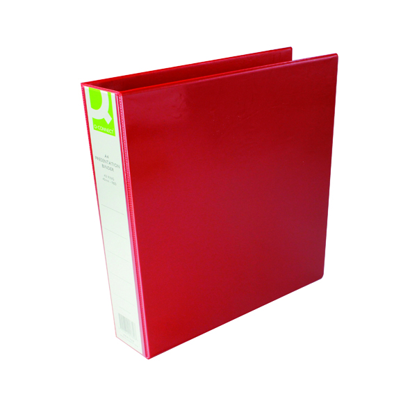 Q-Connect Presentation 40mm 4D Ring Binder A4 Red KF01330