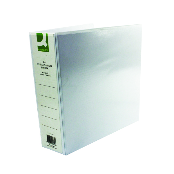 Q-Connect Presentation 65mm 4D Ring Binder A4 White (6 Pack) KF01334Q