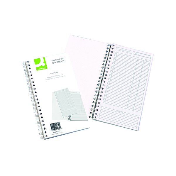 Pay Slip Pads Q-Connect Wirebound Things to Do Today Book 150x280mm KF01339