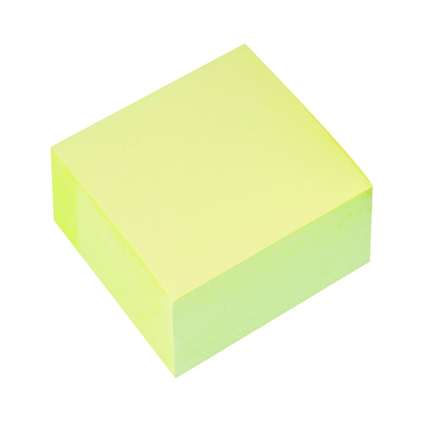 Shapes & Cubes Q-Connect Quick Note Cube 76 x 76mm Yellow KF01346