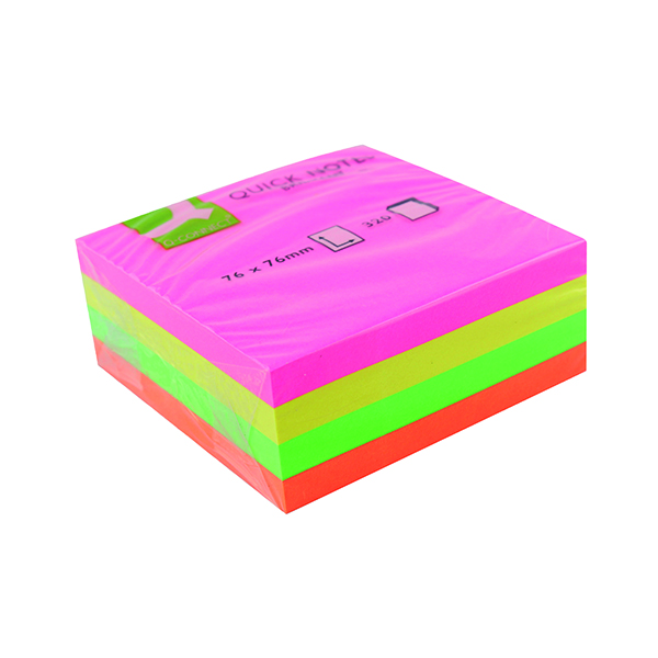 Q-Connect Quick Note Cube 76 x 76mm Neon KF01348