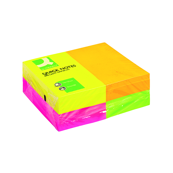Q-Connect Quick Notes 76 x 127mm Neon (12 Pack) KF01350