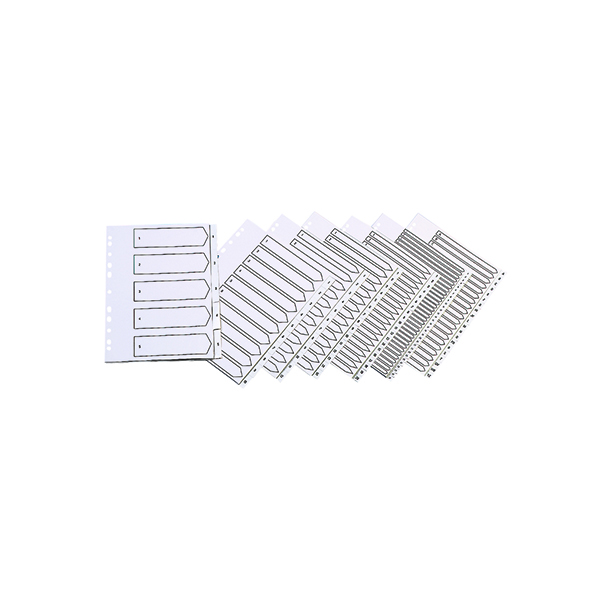Indexes Q-Connect 20-Part A-Z Index Multi-punched Polypropylene White A4 KF01351