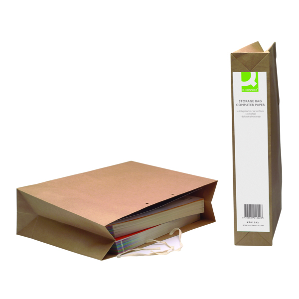 Q-Connect Manilla Computer Paper Storage Bag (25 Pack) KF01392
